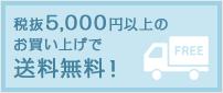 税抜5000円以上のお買い上げで送料無料!
